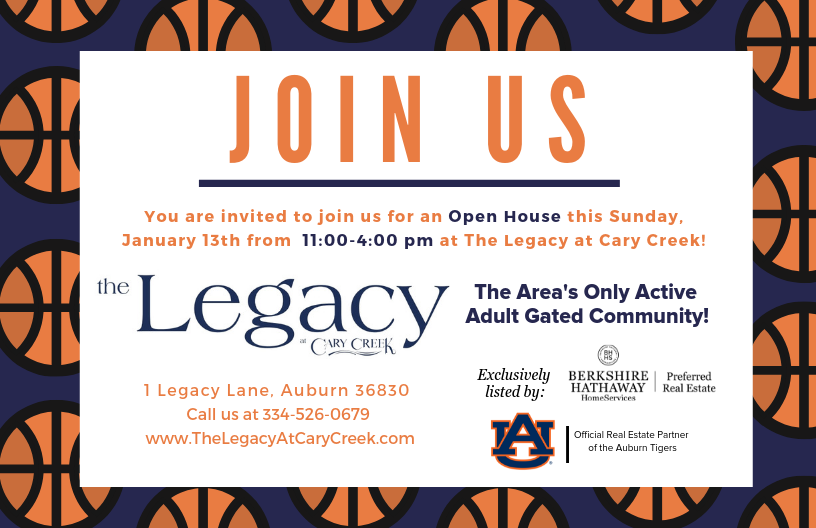 Join us for an Open House at The Legacy at Cary Creek