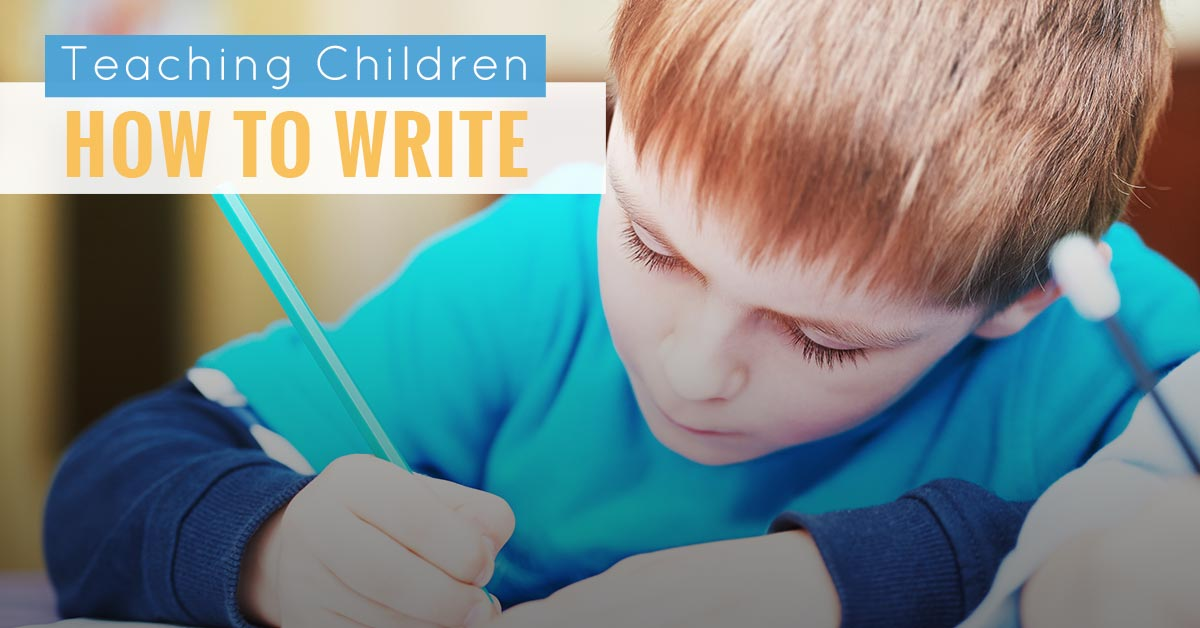 teaching children how to write