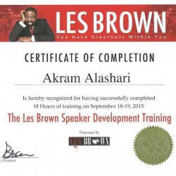 Public Speaker-Les Brown Certification of Completion-The Power Of Peak State