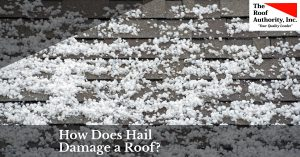 How hail does damage to your roof