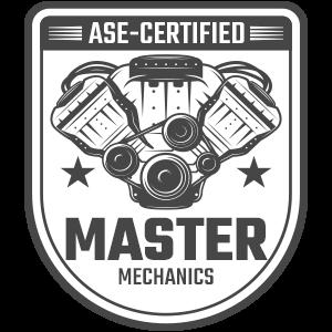 ASE-Certified Master Mechanics Badge