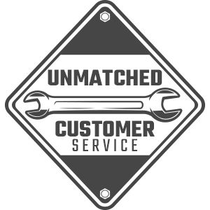 Unmatched Customer Service Badge