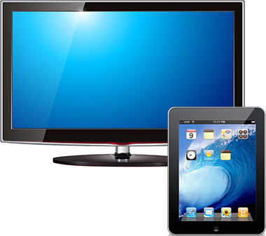 LCD TV and iPod
