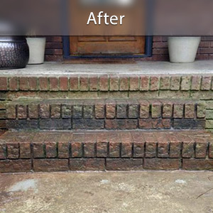 expanding foam was used to level the steps and the cracks and sloping have been repaired.