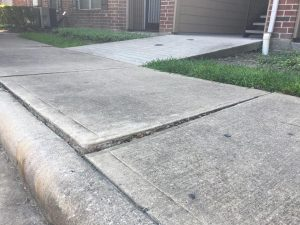 Commercial Sunken Concrete Repair Pearland