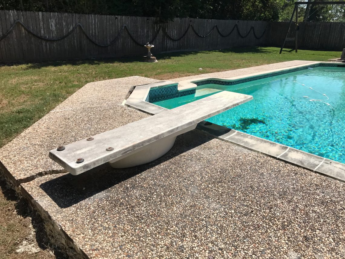 Sinking Pool Deck Solutions Houston Restore Beauty To