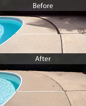 Giving sunken concrete a lift. Expanding foam beneath a settled pool deck will raise the concrete back to proper level and also strengthen the soil so that the problem won't recur.