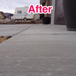 Houston sunken concrete repair after