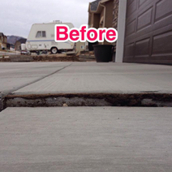 Houston sunken concrete repair
