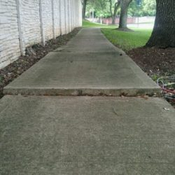 Sinking Concrete Repair Houston Before And After Photos