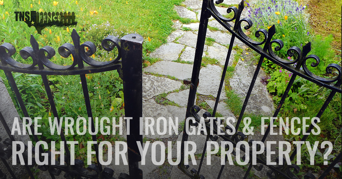 Are Wrought Iron Gates and Fences Right For Your Property