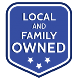 local and family owned badge
