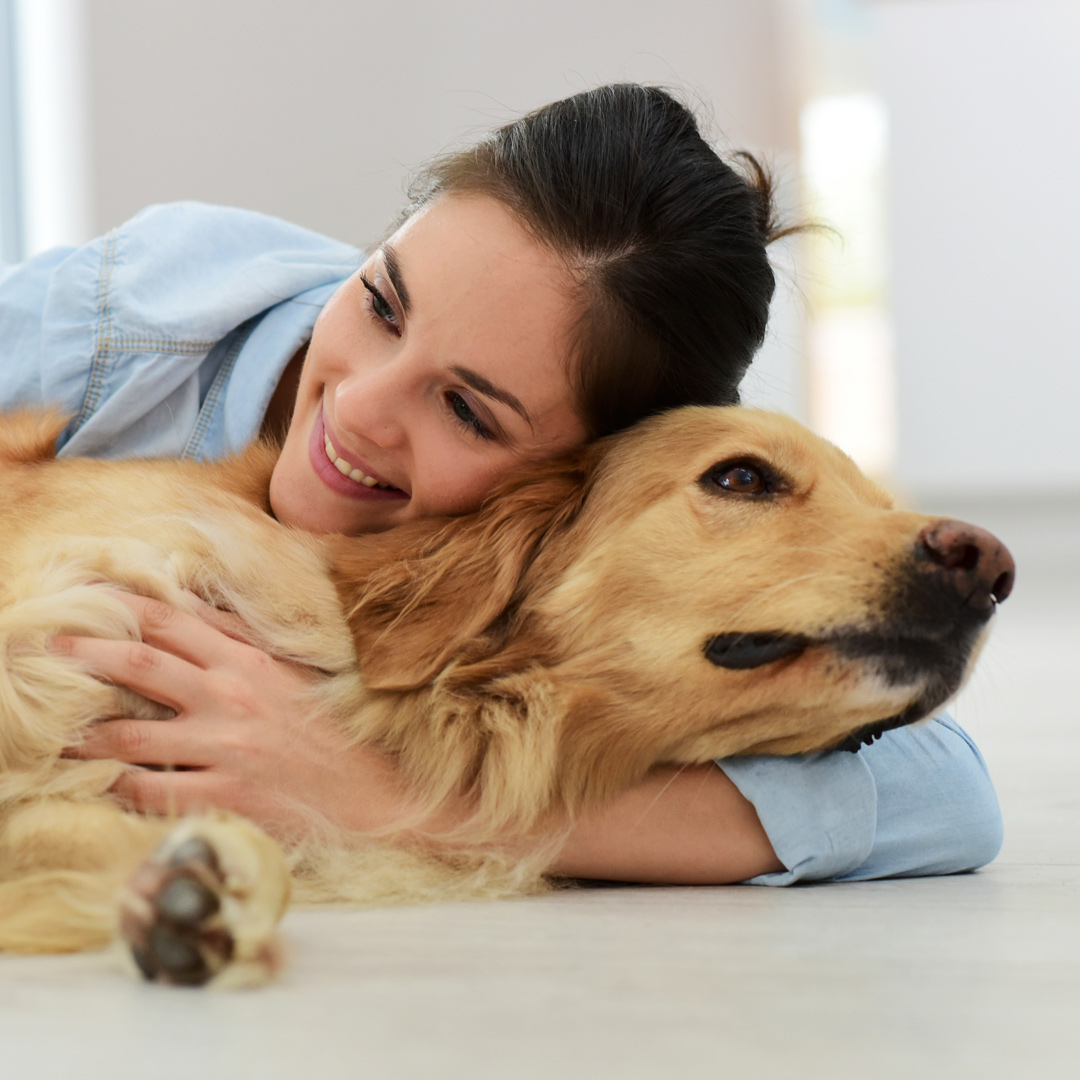 An owner and their pet