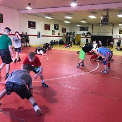 Wrestling in session
