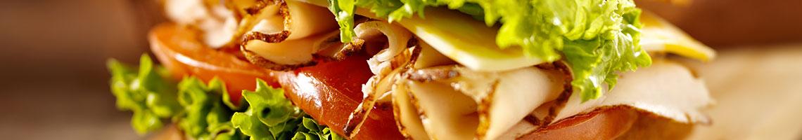 Sandwiches Menu Banner