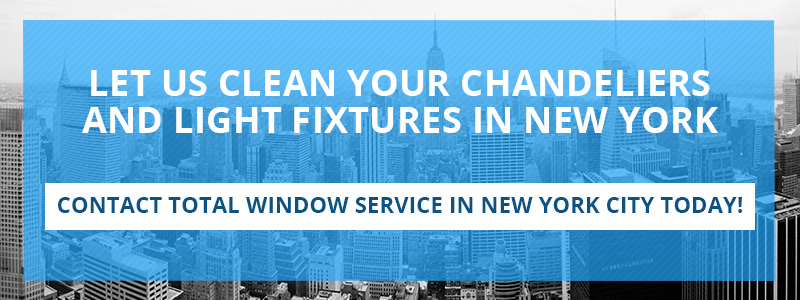 Call to action for light fixture and chandelier cleaning services in NYC.