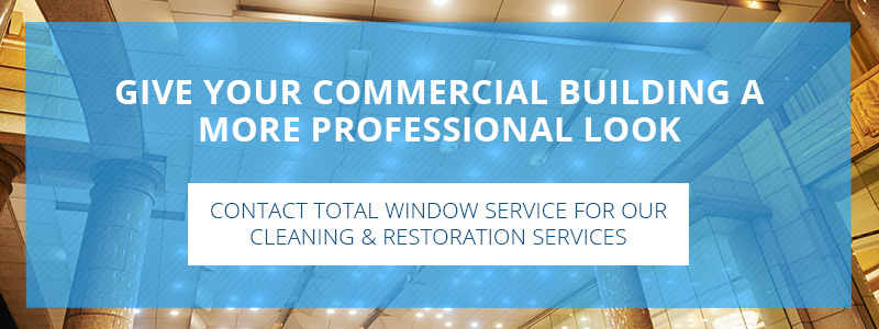 Call to action button for commercial window cleaning and restoration services.