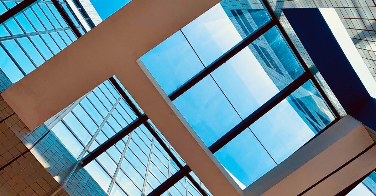 Contemporary window designs on a skyscraper.
