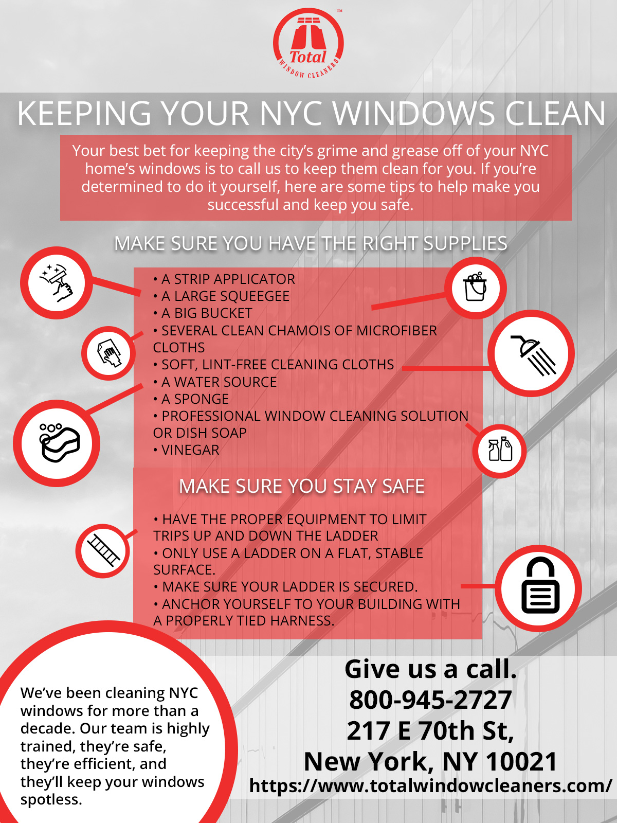 Window Cleaning NYC: Tips For Keeping Your NYC Windows Clean