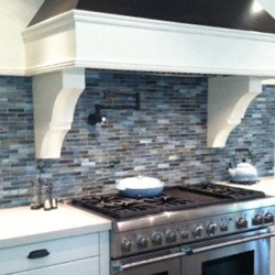 Backsplash tile in a renovated kitchen