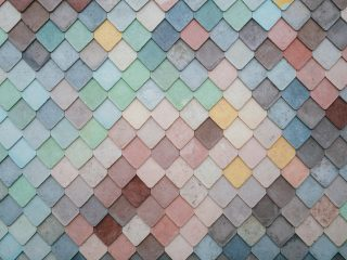 An image of multi-colored tiles.