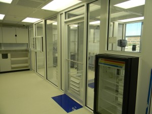 Clean room facilities ensure safety.