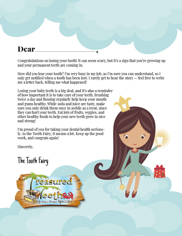 photo regarding Tooth Fairy Notes Printable named Youngsters Dentist Thornton - Letter In opposition to the Teeth Fairy