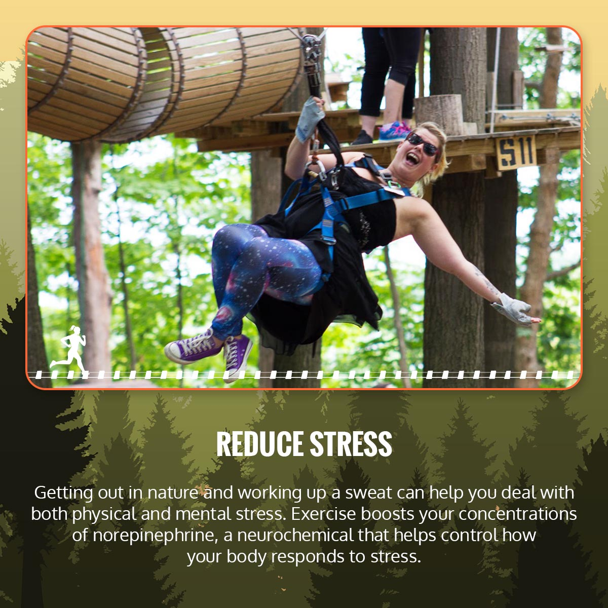 How TreeRunner Can Benefit Your Mental Health & Relieve Stress Infographic 2