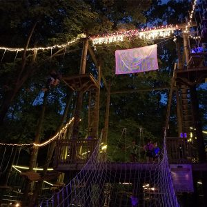 Nighttime Ropes Course in Grand Rapids