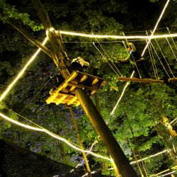 Nighttime Ropes Obstacle Course in West Bloomfield