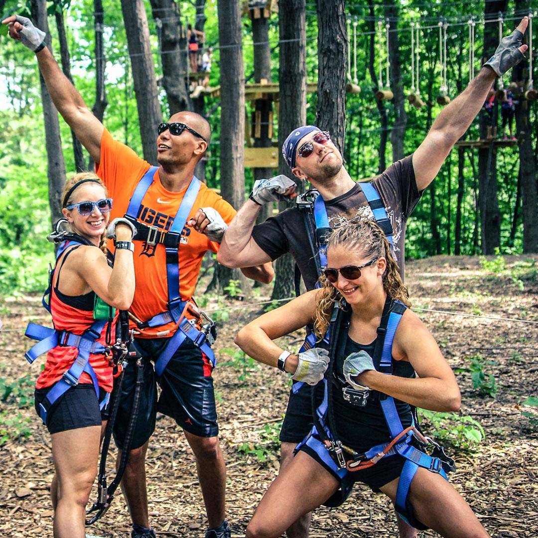Bien-aimée Team Building - Outdoor Adventure I TreeRunner West Bloomfield @JY_02