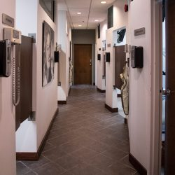 A photo of the patient treatment rooms at Trillium Dental in the Westgate Mall.