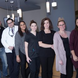 A photo of the dentists, dental hygienists, and staff at Trillium Dental in Stittsville, Ottawa.