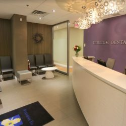 The front lobby at Trillium Dental in the Bayshore Mall, Ottawa.