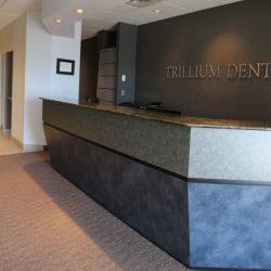 The front desk at Trillium Dental in Alta Vista, Ottawa.