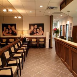 The patient waiting area at Trillium Dental in the Westgate Mall, Ottawa.