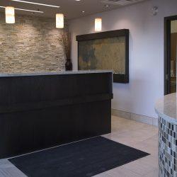 The front desk at Trillium Dental in Stittsville West, Ottawa.