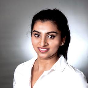 Dr. Varsha Santhanam, family dentist at Trillium Dental in Ottawa.