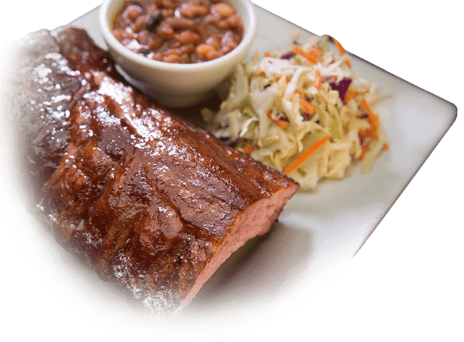 Cole Slaw and BBQ Ribs