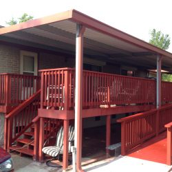 House elevation with a ramp to ensure it remains handicap accessible