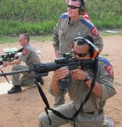 3 Security Officers with at Firearm Shooting Range