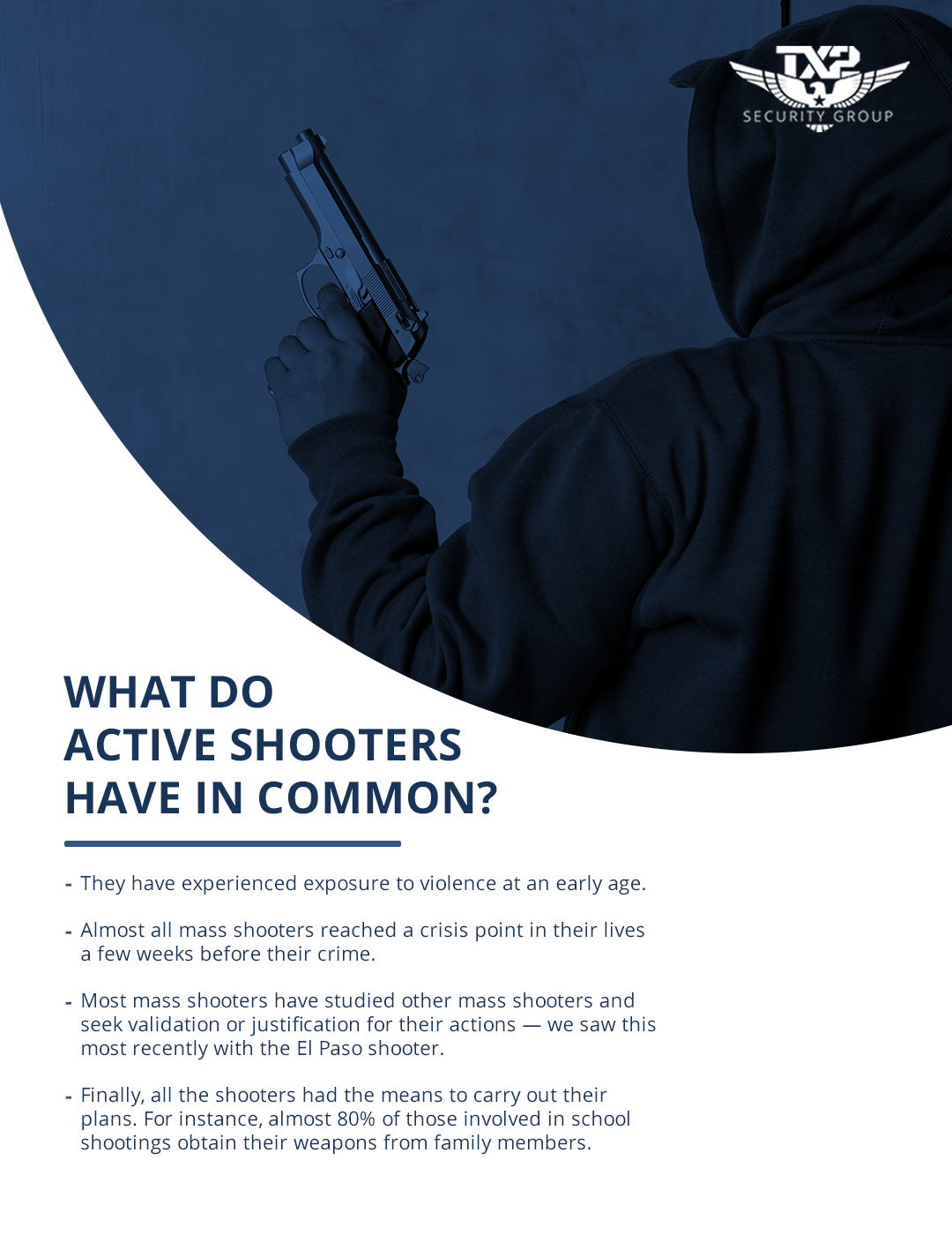 What do Active Shooter Have in Common