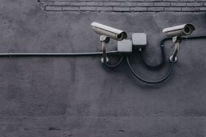 Two Security Cameras Outside of Building