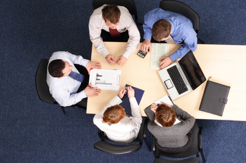 Employees Meeting in Conference Room