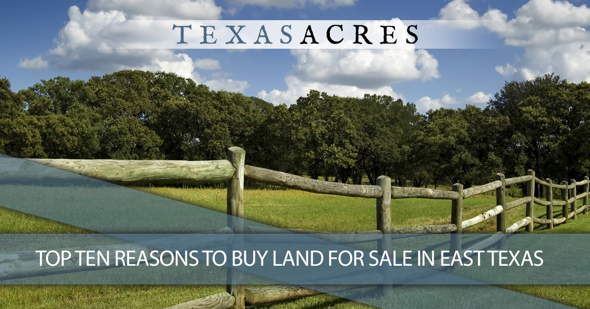 Top Ten Reasons To Buy Land For Sale In East Texas | Texas Acres