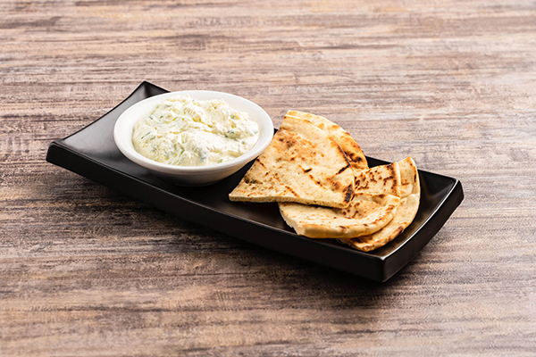 Homemade tzatziki dip from Tzatziki Greek restaurant