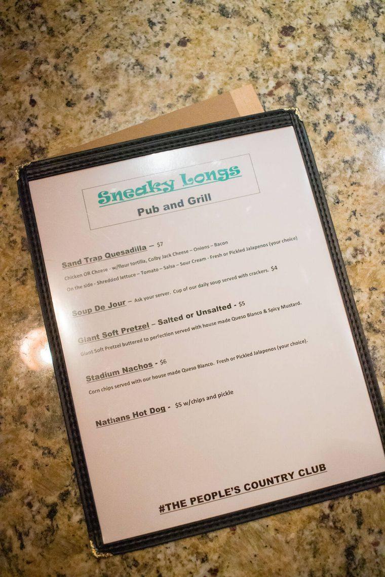 ugly putters food menu