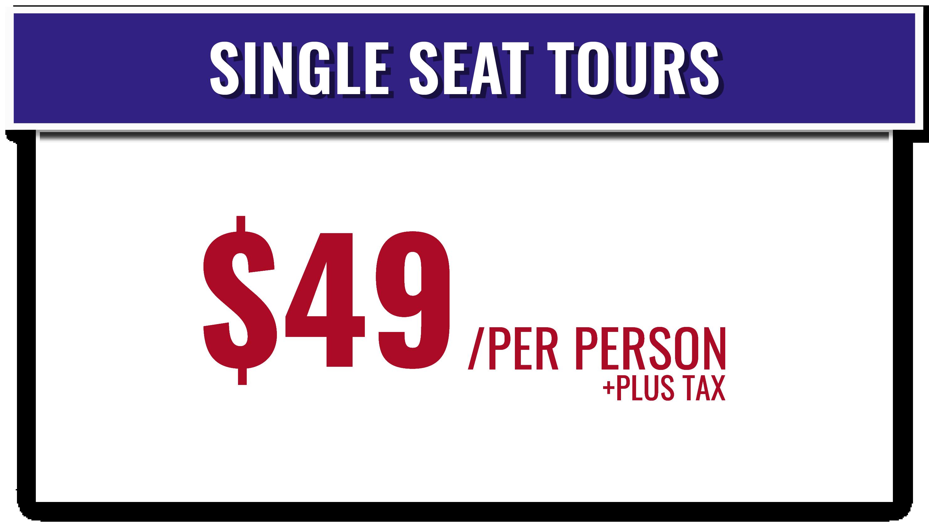 Ultimate Party Bus Single Seat Tour Pricing | Nashville, TN