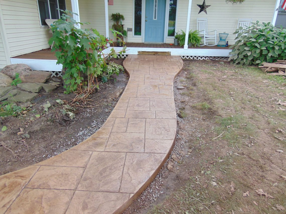 Stamped Concrete Walkway Installation: Fort Wayne Stamped