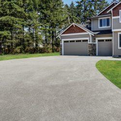 Large paved driveway